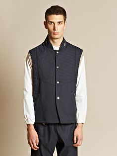 Tim Coppens Men's Padded Gilet with Engineered Quilt