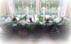 Wonen in wit: Kerststuk