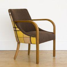 modern swoop armchair