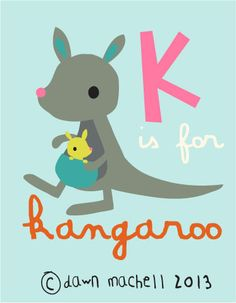 K is for kangaroo /// pop-i-cok