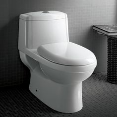 """Ariel cutting-edge designed one-piece toilets with powerful flushing system. It's a beautiful, modern toilet for your contemporary bathroom remodel. Product Details: Dimensions: 26.97"""""""" x 15.94"""""""" x 24"""