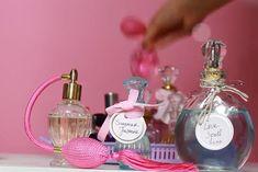 9 Scent-sational DIY Perfumes and Body Sprays Essential Oil Perfume, Perfume Oils, Essential Oils, Homemade Perfume, Perfume Recipes, Perfume Making, Vintage Perfume Bottles, Sprays, Gym Hair
