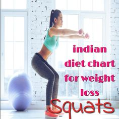 Indian Diet Chart for Weight Loss for Female - 5 Best Exercises To Tone Your Butt - LivelyTech: Weight Loss For Women, Best Weight Loss, Weight Loss Tips, Indian Diet, Diet Chart, Trying To Lose Weight, Squats, Health Tips, Exercise