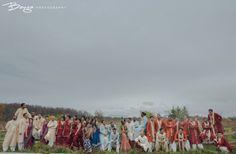 Indian bridal party shot | Image courtesy of Banga Photography. Discover more Indian Bridal Party inspiration at www.shaadibelles.com #weddings #southasian #shaadibelles #bridesmaids #groomsmens Punjabi Wedding, Desi Wedding, Indian Bridal Party, Party Shots, Bridesmaids, Bollywood, Groom, Weddings, Image