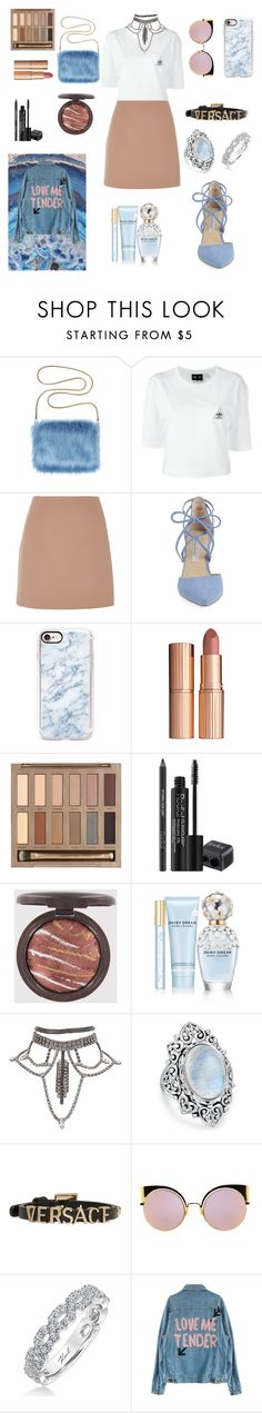 """😊"" by laluna7 ❤ liked on Polyvore featuring adidas, River Island, Kristin Cavallari, Casetify, Charlotte Tilbury, Urban Decay, Rodial, Marc Jacobs, Bling Jewelry and Versace"