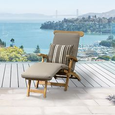 The Lumberly steamer chair brings form and function together with its collapsible design. Easily folds together for winter storage. Crafted of premium teak, accent pillow available separately. Steamer, Outdoor Furniture, Outdoor Decor, Accent Pillows, Sun Lounger, Teak, Outdoor Living, Design Inspiration