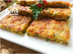 Food and drink apple pie Easy Cake Recipes, Baking Recipes, Parmesan Zucchini Chips, Turkish Recipes, Ethnic Recipes, Appetizer Salads, Tea Sandwiches, Iftar, Food Presentation