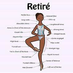 Retiré is a very important position in ballet, it is the basis of all pirouettes and développés. Plus it will always look good in a holographic prism leotard ? Ballet Steps, Ballet Moves, Ballet Dancers, Ballerinas, Ballet Stretches, Dance Terms, Dance Positions, Dance Technique, Hip Hop