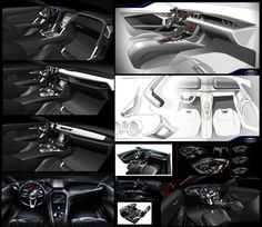 2015 Ford Mustang - Interior design sketches