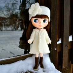 Button Up Wool Swing Coat and Headband Set for by PistachioLibby, $48.00