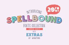 Spellbound is a fabulous pack of twenty fonts! Yes, 20! It's so hard to choose a favorite among them but luckily, you don't have to as all fonts are included for you to use as you like, even commercially!