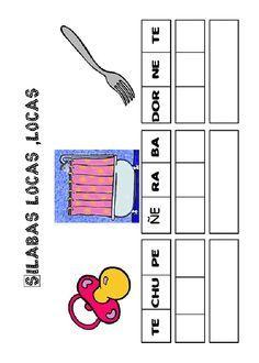 Actividades para imprimir Pon las sílabas en orden 11