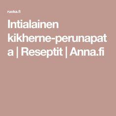 Intialainen kikherne-perunapata | Reseptit | Anna.fi Chili, Anna, Turmeric, Red Peppers, Chile, Chilis