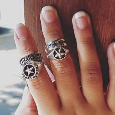 Sterling Silver Texas Pride Rings. Legend Jewelers/San Angelo, Tx