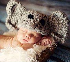Baby Girl or Boy Newborn Elephant Hat Photography Prop Jungle Safari Halloween Costume. $19.99, via Etsy.