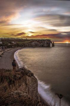 Etretat by les photos du seb on 500px #etretat #normandie #normandy #sunset Normandy, Explore, Sunset, Beach, Water, Outdoor, Photos, Normandie, Gripe Water