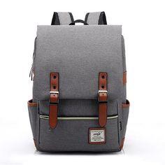 Vintage Travel Daypack Hiking Camping School Rucksack Backpack 75f062f0e7c36