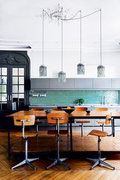 colorful kitchen in paris via inside out magazine. / sfgirlbybay