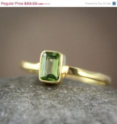 Valentines Day SALE August Birthstone Green Peridot Ring by OhKuol, $58.65 @Sue Goldberg Robison