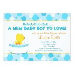 Duck Baby Shower Invitation Card