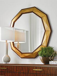 Take Five Savoy Round Mirror | #BrunishedGoldLeaf #GoldMirror