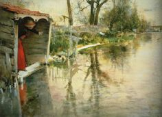 Complete Works Of Carl Larsson | Wide Loing Carl Larsson Wholesale Oil Painting China Picture Frame ...