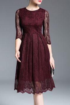 beautiful burgundy dress