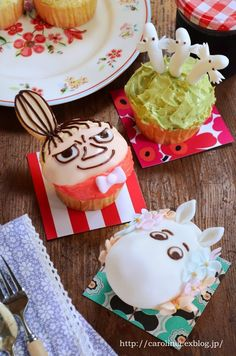お茶の時間にしましょうか-キャロ&ローラのちいさなまいにち- Caroline & Laura's tea break Cupcakes, Cake Cookies, Cute Food, Good Food, Tove Jansson, Character Cakes, Creative Food, No Cook Meals, How To Make Cake