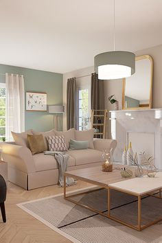 Uncover the lounge embellished in a captivating model by Hélène, our inside decorator Rhinov through the episode of Battle Deco. Decor, Room, Living Room Color, Interior, Home Furniture, Living Room Style, Deco Salon, Style Lounge, Interior Design