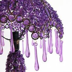 Purple crystal lamp & shade...