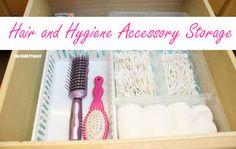 hair and hygiene accessory storage