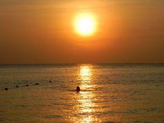 Sunset on Kata beach in Phuket, Thailand