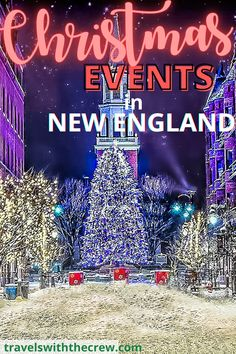 Christmas in New England is as beautiful as you have heard! Here are the best ways to celebrate in the Northeast with festivals, beautiful towns, decorations and more. Enjoy Christmas in New England. Christmas Events, Christmas Travel, Holiday Travel, Christmas Fun, Christmas Destinations, Top Destinations, New England Travel, Christmas Activities, Holiday Festival