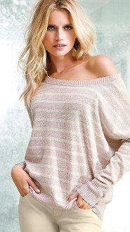 Off the shoulder Cashmere Sweater by Victoria's Secret