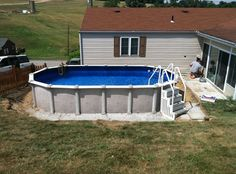 The Mission hybrid above ground swimming pool. More at: http://www.abovegroundpoolbuilder.com/