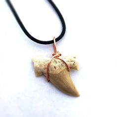 Shark Tooth Necklace / Little Boy Gift Surfer by CrystalSensation Tooth Jewelry, Gifts For Surfers, Shark Tooth Necklace, Fossil Jewelry, Gifts For Boys, Copper Wire, Gift For Lover, Little Boys, Teeth
