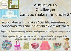 The Scientific Seamstress: August is here which means so is a fun new sewing challenge!