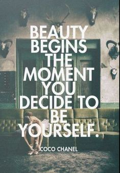 So true! I have always noticed that when I'm myself. Everything is so much better! I love who I am.