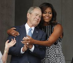 George W. Bush celebrates black tie family wedding in Texas hours after sharing hugs with Michelle Obama at DC museum opening After starting his day in Washington at the dedication of the National Museum of African American History, sharing a hug with Michelle Obama and interrupting the President to take a photo, George W. Bush …