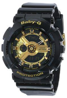 Amazon.com: Casio Women's BA-110-1ACR Baby-G Goldtone Analog-Digital Display and Black Resin Strap Watch: Casio: Watches https://www.youtube.com/watch?v=Bbwd8uC6LfU