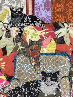 Cows, Cats and Cakes by Annie Helmericks-Louder, Art Textiles