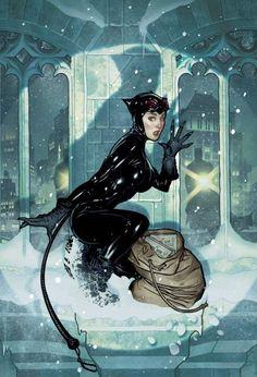 Adam Hughes. Las tapas de Catwoman en las que parecia Audrey Hepburn fueron lo unico bueno de esa tirada.