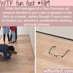 """""""Modern Art"""" - WTF fun facts- wow... ppl are so retarded"""