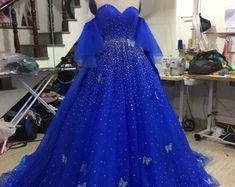 Big Dresses, Royal Blue Prom Dresses, Purple Gowns, Blue Ball Gowns, Ball Gowns Prom, Royal Blue Evening Gown, Prom Ballgown, Purple Wedding Gown, Princess Ball Gowns