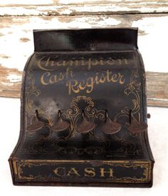 Antique toy cash register, salesman sample miniature cash register