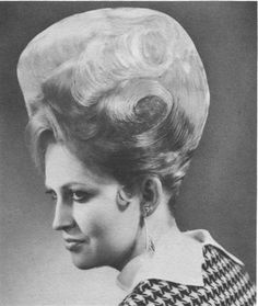 1960s beehive hair style.  I can't stop laughing.  Did some women REALLY do this???