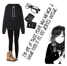 """hoodie time!!!"" by xcreepygirlx ❤ liked on Polyvore featuring La Garçonne Moderne and CO"
