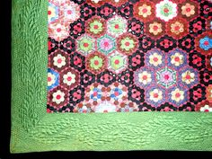 Come Quilt (Sue Garman) Hexagon Quilt, Hexagons, Tumbling Blocks, Sneaks Up, Antique Quilts, English Paper Piecing, Hand Sewing, Blanket, Antiques