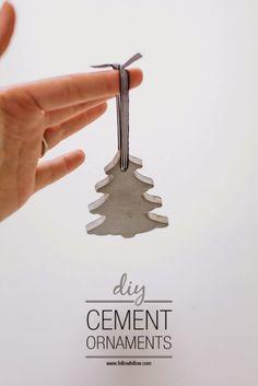 [DIY] Adornos de Navidad de cemento me ennnncannnntaroooonnnnn