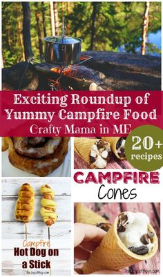 Exciting Roundup of Yummy Campfire Recipes - Crafty Mama in ME! Camping With Kids, Camping Meals, Family Camping, Camping Hacks, Camping Checklist, Camping Essentials, Camping Theme, Diy Camping, Family Travel